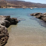 Photo taken at Porto Koundouros Beach by George X. on 8/18/2012