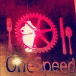 Photo taken at OneSpeed Pizza by Jaime S. on 10/14/2012
