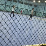 Photo taken at YPKP Indoor Soccer Center by Sya N. on 4/20/2014