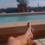 Photo taken at The Whitman Rooftop Pool by Armie on 10/11/2012