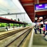 Photo taken at Bahnhof Zürich Tiefenbrunnen by FM G. on 10/9/2013