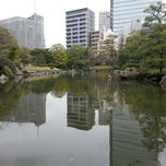 Photo taken at Pond at Kyu Yasuda Garden by Jane on 3/29/2013