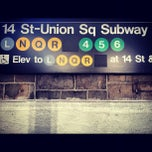 Photo taken at MTA Subway - 14th St/Union Square (L/N/Q/R/4/5/6) by Lucas C. on 12/6/2012