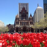 Photo taken at Copley Square by Jessica V. on 5/4/2013