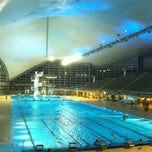 Photo taken at Olympia-Schwimmhalle by Tobias F. on 11/17/2012