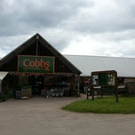 Photo taken at Cobbs Farm Shop and Restaurant by Ben W. on 6/17/2012