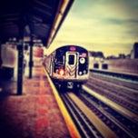 Photo taken at MTA Subway - 30th Ave (N/Q) by Chris B. on 10/23/2012