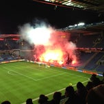 Photo taken at Brøndby Stadion by Mads on 11/28/2012