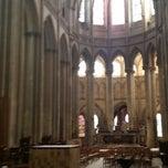 Photo taken at Cathédrale Notre-Dame de Coutances by Gourmet Truck Expo on 6/19/2014