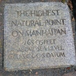 Photo taken at Highest Natural Point In Manhattan by Valerie S. on 7/18/2014