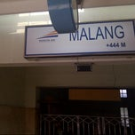 Photo taken at Stasiun Malang Kotabaru by wikanto h. on 12/25/2012