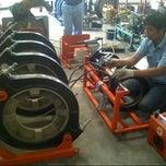 Photo taken at Pabrik PT. Rusli Vinilon Sakti by Fajar R. on 6/5/2013