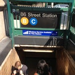 Photo taken at MTA Subway - 86th St (B/C) by Eyal G. on 5/29/2013