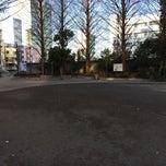 Photo taken at 大手公園 by クロネコ 2. on 1/10/2015