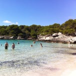 Photo taken at Cala Turqueta by Ferran F. on 10/3/2012