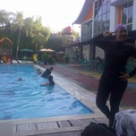 Photo taken at Sagara swimming pool by Dewindah A. on 5/19/2012