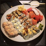 Photo taken at Sushi Giu by Nicola C. on 1/10/2013