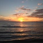 Photo taken at Kaimana Beach Park by Rika Y. on 10/19/2012