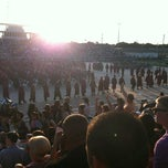 Photo taken at Veterans Memorial Stadium by Emily T. on 6/1/2012