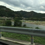 Photo taken at 笠置大橋 by Urotanke on 8/23/2014