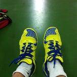 Photo taken at BJGCR Badminton Court by Kim Seng C. on 3/25/2014
