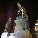 Photo taken at Socha svatého Václava | Saint Wenceslas statue by Олег Б. on 12/3/2012