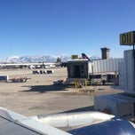 Photo taken at SLC Gate D11 by Jonas G. on 3/8/2015