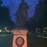 Photo taken at Severn Teackle Wallis Statue by Steven M. on 9/8/2012
