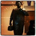 Photo taken at Ralph Kramden Statue by Leo h. on 6/5/2012