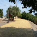 Photo taken at Parque del Meridiano by Rafa on 9/8/2012
