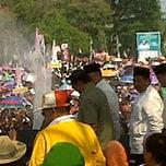 Photo taken at Lapangan STIER sekayu by Patricia Madjid on 9/23/2011