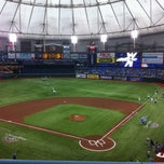 Photo taken at Tropicana Field by Jessica B. on 4/3/2011