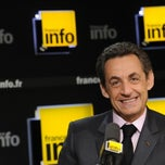 Photo taken at France Info by Nicolas Sarkozy on 4/25/2012