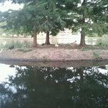 Photo taken at Sfa Ag Pond by Sara C. on 9/14/2011