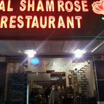 Photo taken at Al Sham Rose Restaurant ( Arabic And Syrian Food) by Nahin M. on 1/25/2012