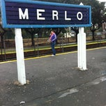 Photo taken at Estación Merlo [Línea Sarmiento] by Facundo D. on 5/22/2012