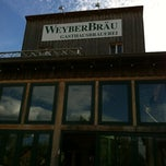 Photo taken at Weyberbräu Biergarten by Christoph P. on 6/16/2012