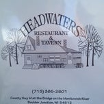 Photo taken at Headwters Tavern & Resturaunt by Peter on 7/14/2012