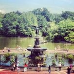 Photo taken at Bethesda Fountain by Miguel G. on 8/23/2012