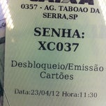 Photo taken at Caixa Econômica Federal - Taboão by Cristina Akemi U. on 4/23/2012