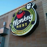 Photo taken at Monkey Nest Coffee by excitable h. on 1/3/2012