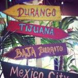 Photo taken at Baja Burrito by Rebecca W. on 1/10/2012