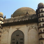 Photo taken at Gol Gumbaz by Saif I. on 4/15/2012