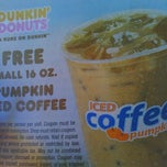 Photo taken at Dunkin' Donuts by Liz N. on 10/3/2011