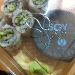 Photo taken at Sushi Shop - St Lambert by Alexandra on 6/7/2012