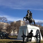 Photo taken at Andrew Jackson Statue by David K. on 1/29/2012