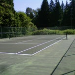 Photo taken at Maple Grove tennis court. by Luke A. on 8/11/2012