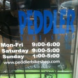 Photo taken at Peddler Bike Shop by Gordon S. on 7/11/2012