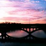 Photo taken at Pfluger Pedestrian Bridge by Tomoko J. on 1/4/2012