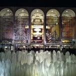 Photo taken at Lincoln Center Plaza (Josie Robertson Plaza) by Macadamia N. on 4/8/2012